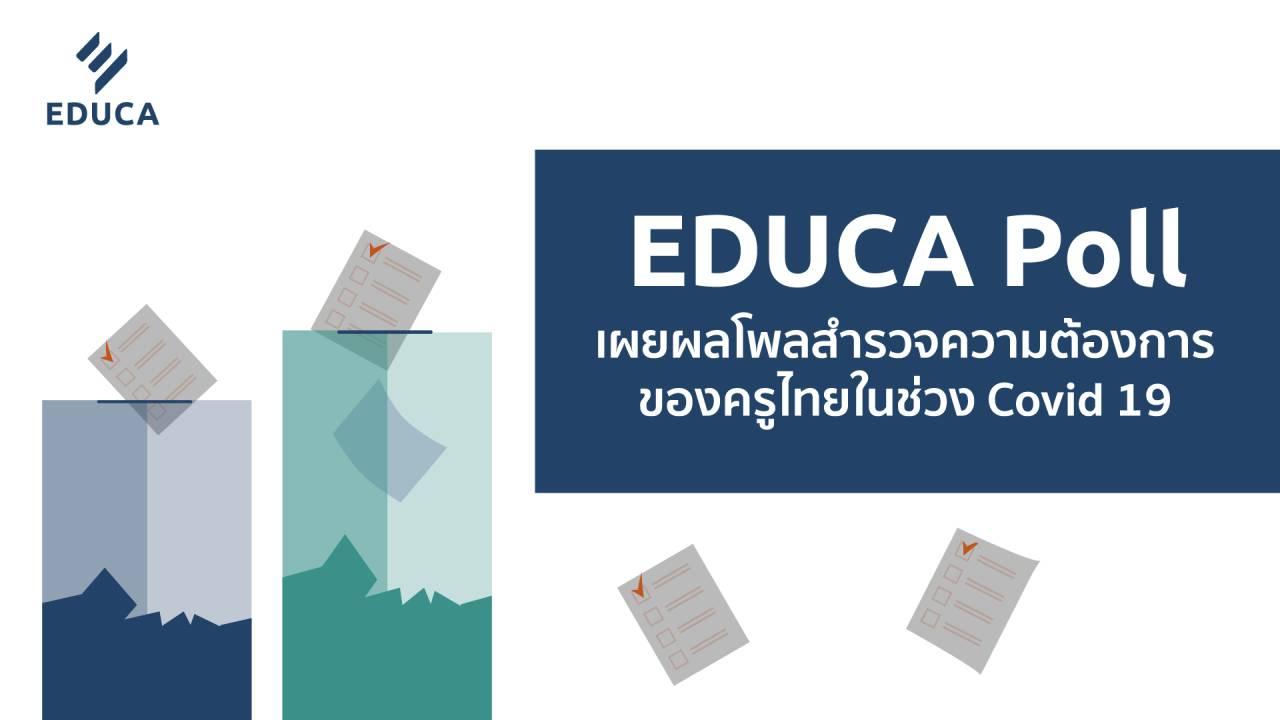 EDUCA Poll เผยผลโพลสำรวจความต้องการของครูไทยในช่วง COVID-19