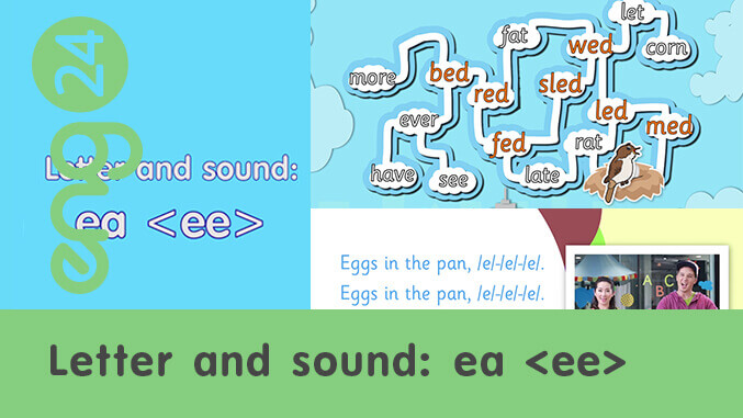 Letter and sound: ea <ee>