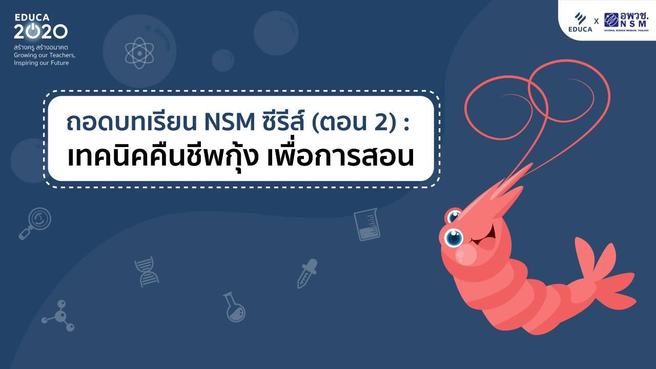 ถอดบทเรียน NSM ซีรีส์ (ตอน 2): เทคนิคคืนชีพกุ้ง สร้างสื่อให้เด็กว้าว