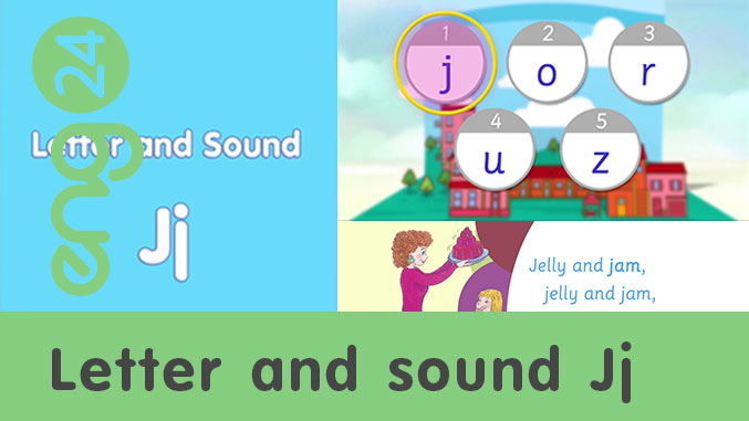 Letter and sound: Jj