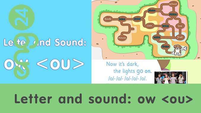 Letter and sound: ow <ou>